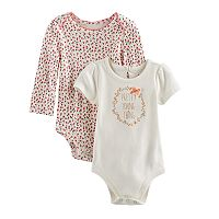 Baby Girl Baby Starters 2-pk. Floral Bodysuits