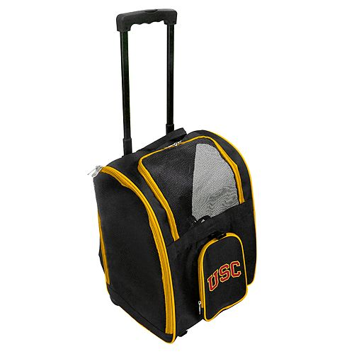 Mojo USC Trojans Wheeled Pet Carrier