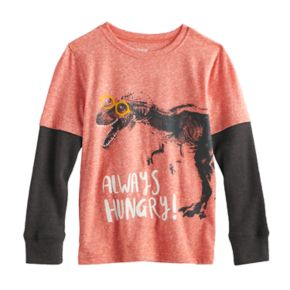 "Boys 4-10 Jumping Beans® ""Always Hungry"" Dinosaur in Glasses Tee"
