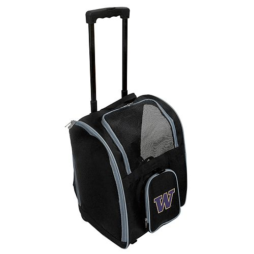 Mojo Washington Huskies Wheeled Pet Carrier