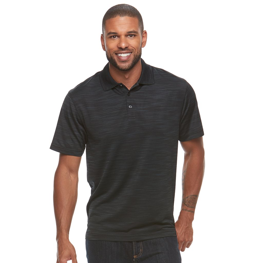 Men's Haggar® Classic-Fit Space-Dye Easy-Care Polo