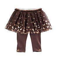 Baby Girl Baby Starters Foil Butterfly Tutu Leggings