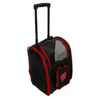 Mojo Wisconsin Badgers Wheeled Pet Carrier