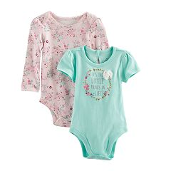Baby Girl Baby Starters 2 pk'Little Things' Bodysuits