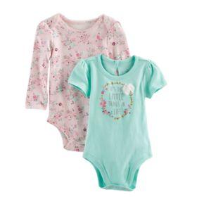 "Baby Girl Baby Starters 2-pk. ""Little Things"" Bodysuits"