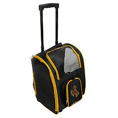 Mojo Wyoming Cowboys Wheeled Pet Carrier
