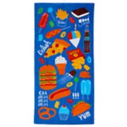 Jumping Beans® Junk Food Beach Towel