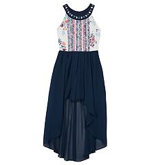 Girls 7-16 IZ Amy Byer Walk-Through Maxi Dress