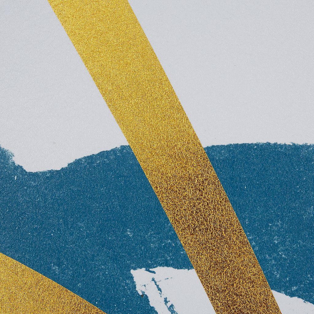 INK+IVY Vibrant Pulse Gold Tone Foil Framed Wall Art 3-piece Set