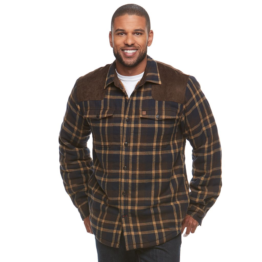 Men's Coleman Classic-Fit Flannel Sherpa-Lined Shirt Jacket