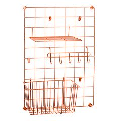 Honey-Can-Do Copper Grid Wall Organization Kit