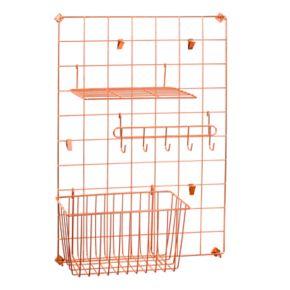 Honey-Can-Do Copper Grid Wall Organization Kit