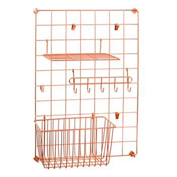 Honey Can Do Copper Grid Wall Organization Kit