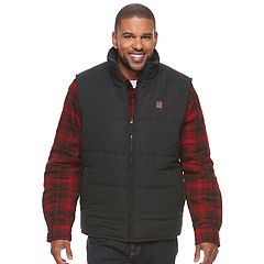 Men's Coleman Sherpa-Lined Microfiber Quilted Vest