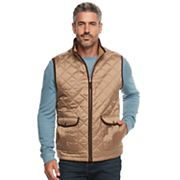 Men's Caribbean Joe Fleece-Lined Quilted Vest