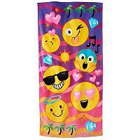 Jumping Beans® Emoji Beach Towel