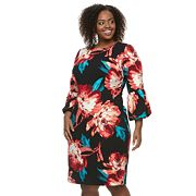 Plus Size Suite 7 Peony Midi Sheath Dress