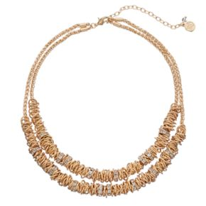 Dana Buchman Ring Cluster Double Strand Necklace