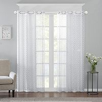 Madison Park Conway Burnout Sheer Curtain