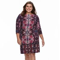 Plus Size Suite 7 Printed Shift Dress