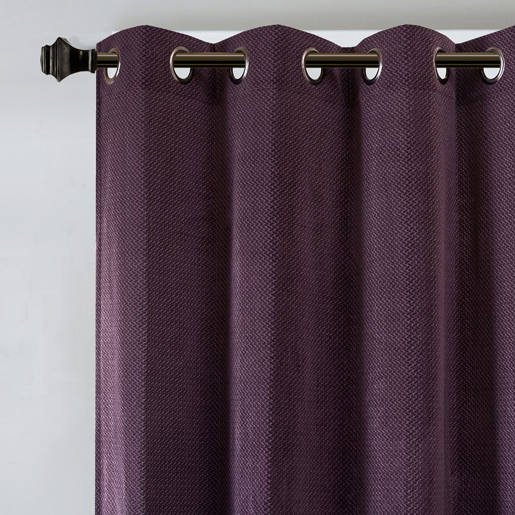 Madison Park Matera Basketweave Chenille Window Curtain