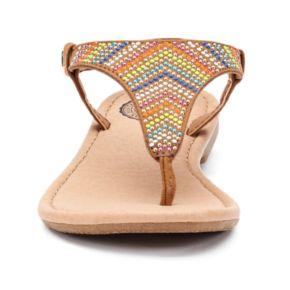 SO® Girls' Studded Ankle Strap Sandals