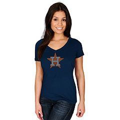 Women's Majestic Houston Astros Dream of Diamonds Tee