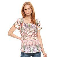 Women's World Unity Printed Scoopneck Tee
