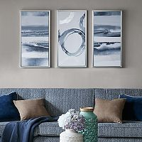Madison Park Gray Surrounding Canvas Wall Art 3 pc Set