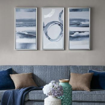 Madison Park Gray Surrounding Canvas Wall Art 3-piece Set
