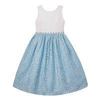 Girls Plus Size American Princess Rhinestone Waist & Lace Skirt Dress