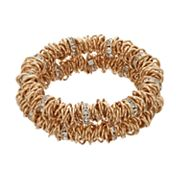 Dana Buchman Interlocked Ring Double Row Stretch Bracelet