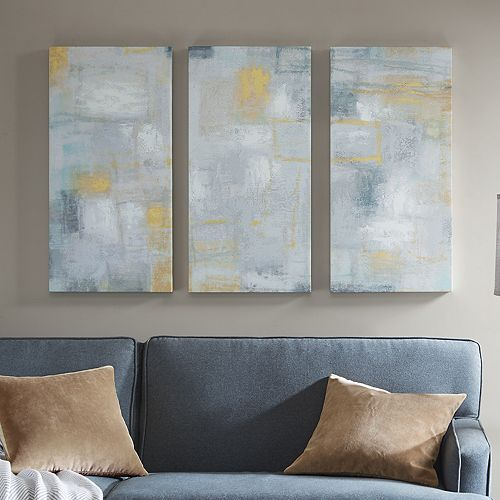 Madison Park Abstract Blocks Canvas Wall Art 3-piece Set