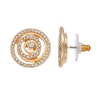 Dana Buchman Circle Button Stud Earrings