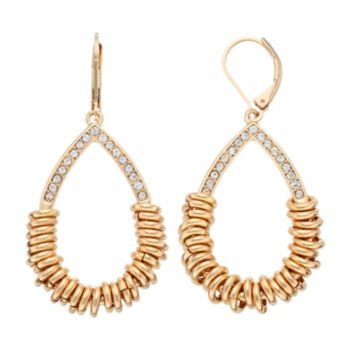 Dana Buchman Rondelle Teardrop Earrings