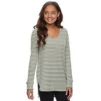 Women's SONOMA Goods for Life™ Supersoft V-Neck Waffle Weave Tunic
