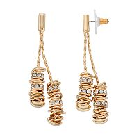 Dana Buchman Ring Cluster Linear Earrings