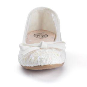 SO® Girls' Sequined Ballet Flats
