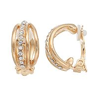 Dana Buchman Multi Row Clip On C Hoop Earrings