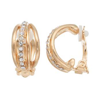Dana Buchman Multi Row Clip On C Hoop Earrings