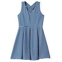 Girls Plus Size Lilt Striped Skater Dress