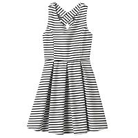 Girls Plus Size Lilt Striped Skater Dress