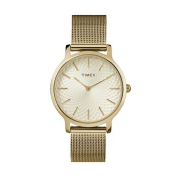 Timex Women's Metropolitan Skyline Stainless Steel Mesh Watch - TW2R36100JT