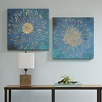 Urban Habitat Iridescent Bloom Canvas Wall Art 2-piece Set