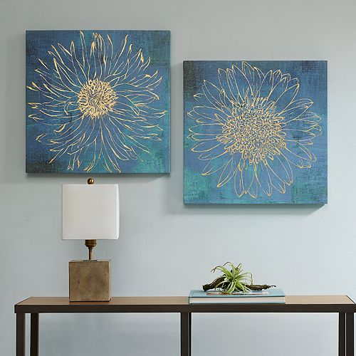Urban Habitat Iridescent Bloom Canvas Wall Art  2-piece Set
