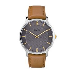 Timex Men's Metropolitan Skyline Leather Watch - TW2R49700JT