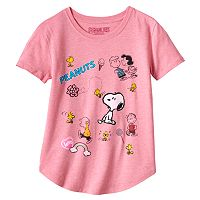 Girls Plus Size Peanuts Characters Graphic Tee