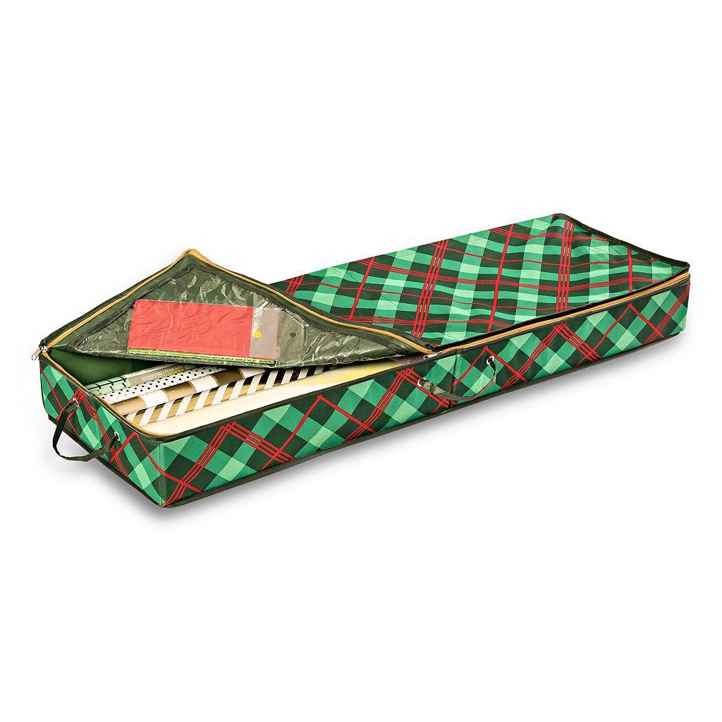 Honey-Can-Do Plaid Gift Wrap Organizer