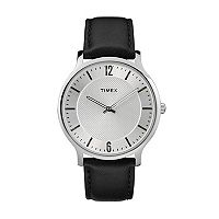 Timex Men's Metropolitan Skyline Leather Watch - TW2R50000JT