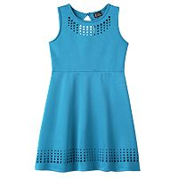 Girls Plus Size Lilt Laser Cut Skater Dress